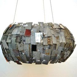 STUDIO-1 Chandelier - Wine Barrel Ring Light -100% Recycled wine barrel rings -