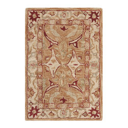 Safavieh - Safavieh Anatolia Small Rug in Red, Beige, Ivory, 3'x5' - Anatolia Collection Brings Old World Sophistication and Quality in New Tufted Rugs. This Collection Captures the Authentic Look and Feel of the Decorative Rugs Made in the Late 19Th Century in This Region. Hand Spun Wool and an Ancient Pot Dying Technique Together with a Densely Woven Thick Pile, Gives Anatolia Rugs Their Authentic Finish. What's included: Area Rug (1).