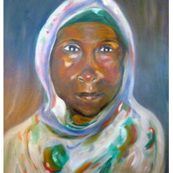 """African Woman I"" (Original) By Elizabeth Welles - This Beautiful Woman Is From Tanzania."