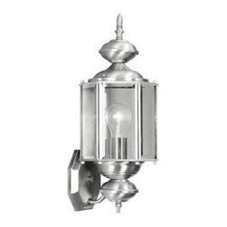 Livex Lighting - Livex Outdoor Basics Outdoor Wall Lantern Brushed Nickel -2006-91 - Livex products are highly detailed and meticulously finished by some of the best craftsmen in the business