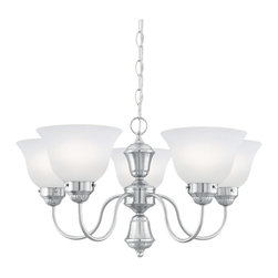 Thomas Lighting - Whitmore Brushed Nickel 5 Light Chandelier - Thomas Lighting SL801078 Whitmore Brushed Nickel 5 Light Chandelier