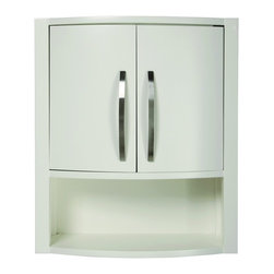 "DecoLav - Decolav 5255-WHT Lola Wall Cabinet in White - Decolav 5255-WHT Lola Wall Cabinet in WhiteDECOLAV's Lola 22""Wx9""Dx26""H Wall Cabinet features curved double doors with adjustable interior shelves.  The open storage cubby is space effient and lined with a sold wood frame for durability. The Lola Collection complete set is available in various finishes making this collection ideal for any size bathroom. Decolav 5255-WHT Lola Wall Cabinet in White, Features:&#149 Part of the Lola Bath Furniture Collection"