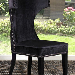 Alto Modern Black Fabric Dining Chair - Modern Dining Chair