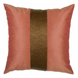 Rizzy Home - Coral and Copper Decorative Accent Pillows (Set of 2) - T03589 - Set of 2 Pillows.