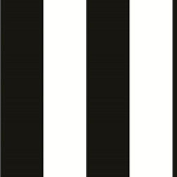 Norwall - Black and White Stripe Wallpaper, Black & White, Double Roll - This is a classic black and white wallpaper print from the Black and White II collection. It is classy, sophisticated and will appeal to anyone who enjoys stately wall decor. Pattern # BW28702, 1 5/8 inch Stripe
