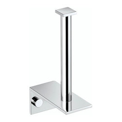 WS Bath Collections - Metric Spare Toilet Paper Holder in Brushed S - Made in Spain. Product Material: Brushed Stainless Steel. Finish/Color: Polished Chrome. Dimensions: 1.6 in. W x 6.7 in. L x 3.5 in. H