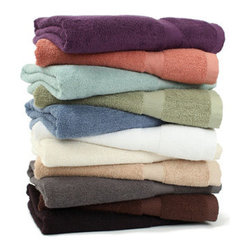 Grandin Road - Bamboo Viscose Towel Set - Extra absorbent bamboo bath towel set. Set includes one of each size: bath towel, hand towel, wash cloth. Made from 100% bamboo viscose. 550 GSM weight. Machine wash cold; tumble dry low. Rejuvenate your senses with fluffy, absorbent bamboo viscose bath towels - each set includes one bath towel, one hand towel, and one wash cloth. Weighing in at 550 grams per square meter, each towel has a soft and silky hand with an absorbency that surpasses cotton. Select your favorite colors and stock up the master and guest baths.. . . . . Imported.