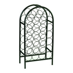Old Dutfch International - 27 Bottle Matte Black Classic Arch Wine Rack - 27 Bottle Classic Arch Wine Rack.  Store and display 27 bottles of your finest vintage! Graceful, classic styling enhances any décor. Durable steel construction, matte black powder coat finish. Assembly required.
