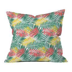 DENY Designs - Zoe Wodarz Palm Beachy Throw Pillow - Wanna transform a serious room into a fun, inviting space? Looking to complete a room full of solids with a unique print? Need to add a pop of color to your dull, lackluster space? Accomplish all of the above with one simple, yet powerful home accessory we like to call the DENY throw pillow collection! Custom printed in the USA for every order.