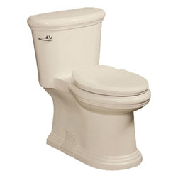 "Danze - Danze Orrington DC011223BC 1 Piece Toilet Biscuit - Danze DC011223BC Biscuit 1 Piece Toilet is part of the Orrington Bath collection.  DC011223BC Toilet with Elongated bowl with 12"" rough-in has a 16 1/2"" rim height.  Water consumption rating 1.6 gpf."