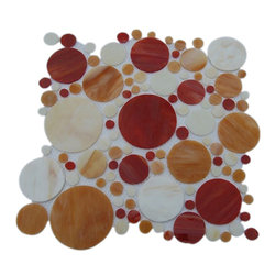 Circle Motion Solar Blend Glass Tile - sample-CIRCLE MOTION SOLAR 1/3 SHEET GLASS TILES SAMPLE THIS IS FOR A 1/4 SHEET SAMPLE WITH . WE DO NOT OFFER FREE SAMPLES OF THIS LINE BECAUSE YOU NEED TO SEE AT LEAST1 1/4 SHEET TO SEE THE FULL EFFECT OF THE TILE AND ALL OF ITS COLORS THE SHIPPING IS FREE AND IT WILL SAY ONLINE DELIVERY BUT DONT WORRY THAT MEANS USPS.