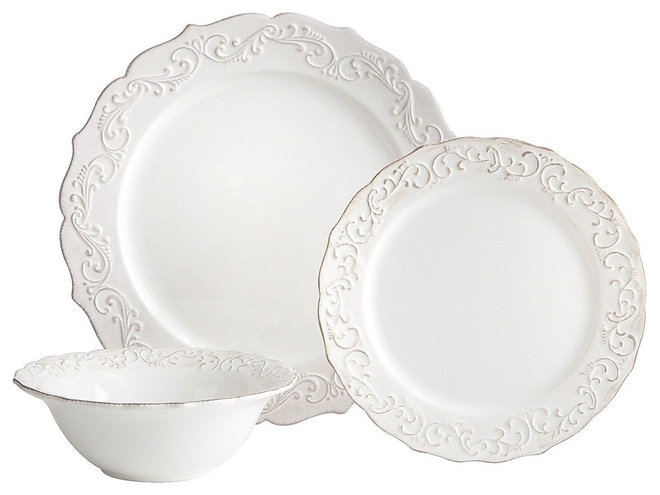 traditional dinnerware by Pier 1 Imports