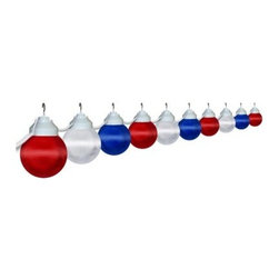 Polymer Products LLC Patriotic Globe String Light Set - On trend and with a clean, modern look, string lights are an easy way to add flair and fun to your outdoor decor. Light up the outdoors with this weather-resistant Polymer Products LLC Patriotic Globe String Light Set. It's perfect for decoration or functional lighting. Great for decks, patios, porches, awnings, and recreational vehicles. Includes 20-ft. power cord and hanging hooks for installation. What exactly is polycarbonate lighting? Polycarbonate is resistant to shattering, so it's perfect for outdoor lighting. It's UL/cUL-approved and is a great weather-resistant choice in lighting. Polymer Products proudly make their polycarbonate lighting here in the USA.