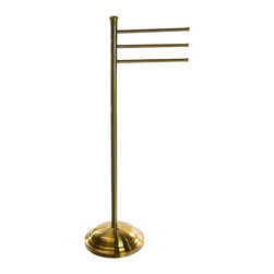 Gedy - Bronze Triple Floor Standing Towel Rack of Brass - Complete your decorative master bath with this designer towel stand from Gedy. This contemporary, quality towel holder is made in Italy with brass and cromall and available in bronze. From the Gedy Romance collection. Gedy floor standing towel holder. From the Romance collection. High quality & designer, made in brass and cromall and coated with bronze. Made in Italy.