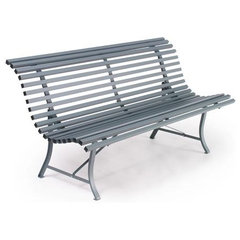 patio furniture and outdoor furniture Fermob Louisiane Bench - 59 inches