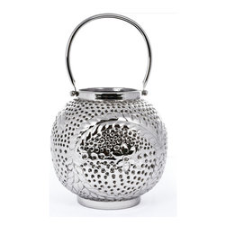 "Concepts Life - Concepts Life Candle Holder  Star Gazer Lantern  7"" - Dress up your windowsill with these silver Star Gazer Lanterns and add glamour and romance to your home. These lanters have ornate detailing and perforated patterns that will add a warm glow to your dinner table, whether inside our ouside.  Aluminum votive candle holder Beautiful and elegant home accent Lantern has floral design Perforated detailing allows light to shine through Handle for effortless transport Comes wrapped in gift-box Dimensions: 7""l x 7""d x 7""h Weight: 1.5"" lbs"