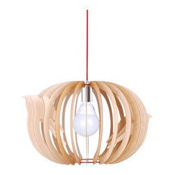 ParrotUncle - Bentwood Oval Birdcage Pendant Lighting, Small - The outer shade is made from wood, which brings a quiet elegance. The tranquil, filtered light is lovely in your bedroom and the length is adjustable for your comfort.