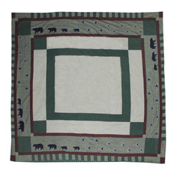 Patch Quilts - Bear Trail Duvet Cover King 108 x 98 - - Beautifully crafted cover with intricate applique .Bedding ensemble from Patch Magic  - The Name for the finest quality quilts and accessories  - Machine washable.Line or Flat dry only Patch Quilts - DCKBETR