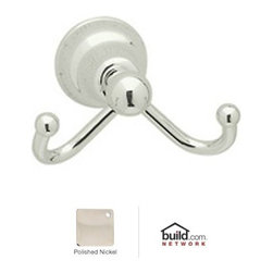 "Rohl - Rohl CIS7DPN Polished Nickel Cisal Cisal Double Hook Robe Hook - Cisal Double Hook Robe HookRohl's Cisal Classic collection of bathroom faucets and fixtures features traditional design elements meant to create a focal point. This family is manufactured in the Italian town of Alzo, which was once renowned for making bronze church bells. Today, Alzo is widely regarded as the ""Village of the Faucets,"" and Rohl's Cisal Classic collection employs bell-shaped bases of the spout handles as a tribute to the town's history. This family features a wide range of bathroom faucets, like single and double handle, as well as single hole, centerset, and widespread configurations. These products feature brass construction and are available in five finish options.Rohl CIS7D Features:All brass construction – weight: 1 lb.Superior finishing process – chemical, scratch, and stain resistantRounded, snag-free endsEasy to clean and installExtra secure mounting assemblyAll mounting hardware includedFully covered under Rohl's limited lifetime warrantyManufactured in New Zealand, Western Europe, and/or North AmericaAbout Rohl:Excellence, durability, and beauty. Family values, integrity, and innovation. These are all terms which aptly describe Rohl and its remarkable selection of kitchen and bathroom faucets and fixtures. Since 1983, Rohl has maintained a commitment to providing high-quality plumbing products for residential and commercial applications, while assuring these fixtures would make a difference in the overall décor in the living space. With a dedication to excellence throughout the home, Rohl has been satisfying homes, schools, hospitality venues, and restaurants all around the world. Rohl specializes in providing timeless designs for every type of theme, including traditional, transitional, and modern. When Rohl suggests its products reflect the feel of a certain area outside the United States, it's more than just that."