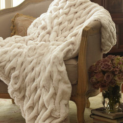 Paris Faux Fur Throw - I can't wait to get my hands on this gorgeous faux fur throw. It looks delicious.