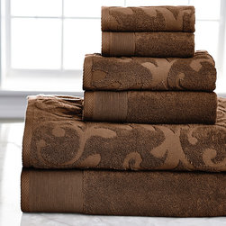 None - Quick Dry Solid Egyptian Cotton 6-pieceTowel Set - Add elegance to your bathroom with this set of 6 beautifully crafted Egyptian cotton towels. Available in several color options,these towels,featuring an intricate yet subtle design,are sure to enhance your decor.