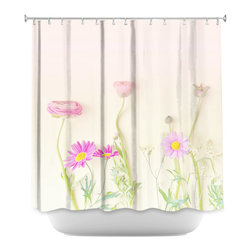 DiaNoche Designs - Shower Curtain Artistic - Daisy and Friends - DiaNoche Designs works with artists from around the world to bring unique, artistic products to decorate all aspects of your home.  Our designer Shower Curtains will be the talk of every guest to visit your bathroom!  Our Shower Curtains have Sewn reinforced holes for curtain rings, Shower Curtain Rings Not Included.  Dye Sublimation printing adheres the ink to the material for long life and durability. Machine Wash upon arrival for maximum softness on cold and dry low.  Printed in USA.