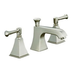 KOHLER - KOHLER K-454-4S-BN Memoirs Stately Widespread Lavatory Faucet with Lever Handles - KOHLER K-454-4S-BN Memoirs Stately Widespread Lavatory Faucet with Lever Handles in Brushed Nickel