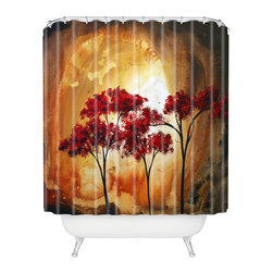 DENY Designs - madart inc Empty Nest 2 Shower Curtain - Who says bathrooms can't be fun? To get the most bang for your buck, start with an artistic, inventive shower curtain. We've got endless options that will really make your bathroom pop. Heck, your guests may start spending a little extra time in there because of it!