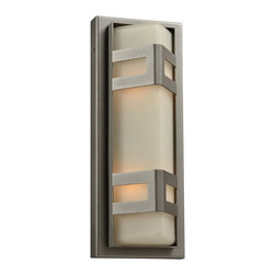 "PLC - Sasha 16 1/4"" High Bronze Outdoor Wall Light - This intriguing bronze outdoor wall light will bathe your home in style and light. This vertical design features a warm rectangular frosted glass diffuser in a chic metal frame in bronze finish. UL rated for outdoor use in wet locations. Metal outdoor wall light. Bronze finish. Frosted glass diffuser. Two maximum 60 watt bulbs (not included). 16 1/4"" high. 6 1/4"" wide. Extends 5 3/4"". UL listed for use in wet outdoor locations.  Metal outdoor wall light.   Bronze finish.   Frosted glass diffuser.   Two maximum 60 watt bulbs (not included).   16 1/4"" high.   6 1/4"" wide.   Extends 5 3/4"".   UL listed for use in wet outdoor locations."