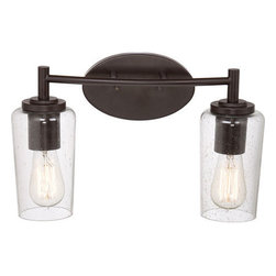 Quoizel Lighting - Quoizel EDS8602WT Edison 2 Light Bathroom Vanity Light, Western Bronze - Bath fixture 2 lgt wstrn brnz