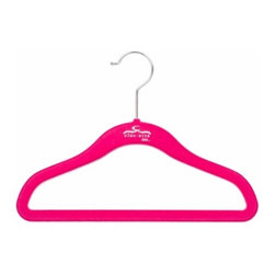 Clos-ette Too - Clos-ette Too Signature Skinny Hanger for Kids, Pink Set of 10 - Our Signature Skinny Hanger for Kids is the ultimate children's closet accessory. The Skinny Hanger for Kids is flocked in a velvety non-slip material, ensuring your child's garments stay put. And because we use the highest quality composites and fabric, our hangers never snap, unlike other brands on the market. We guarantee you'll find our clothing hangers to be longer lasting and better for your clothes than the competition.