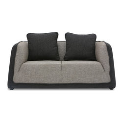Bryght - Italy Love-seat - The Italy is a stylish versatile addition to your living room space. Made for longer comfortable sittings with lots of high density foam cushioning. Its soft, durable, feel-good fabric in dual shades of liquorice and coral adds class to this well designed furniture piece. Team it with Italy armchair or Italy sofa for the ideal contemporary look