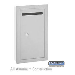 Salsbury Industries - Letter Box (Includes Commercial Lock) - Slim - Recessed Mounted - Aluminum - Letter Box (Includes Commercial Lock) - Slim - Recessed Mounted - Aluminum - Private Access