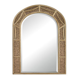 Sterling Industries - Sterling Industries 132-019 Signature Mirrors in Gold Leaf With Antique Mirror - Arch Mirror With Antique Glass Surround.