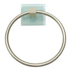 Atlas Homewares - Bath Accessories - Eucalyptus Towel Ring in Brushed Nickel and -