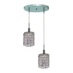 Lighting By Pecaso - Wiatt Hanging Fixture Round Canopy D9 H12-48 Round Pendant Lt:2 Chrome Finish - ChainWire Incuded  4 ft, Bulb Type GU10, Bulb Wattage 50, Max Wattage 100, Voltage 110V125V, Finish Chrome, UL  Ulc Standard  YES, UL  Ulc Standard  YES
