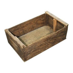 Used Vintage Wooden Wreath Crate - Price just reduced! This is a vintage wreath crate that came from a wreath making factory. Worn to a lovely patina, it is ready to solve your storage dilemmas. Fill it with books, magazines, towels - you name it!