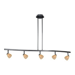 Vaxcel Lighting - 5L Spot Light Pendant Creme Cognac Glass - Vaxcel Lighting products are highly detailed and meticulously finished by some of the best craftsmen in the business.