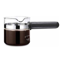 Medelco - One All Universal 4-Cup Espresso Carafe - Designed to fit nearly all espresso makers. Made from high-quality borosilicate glass. Black handleThe One All espresso carafe is a clear choice for every home espresso machine. Use our fits list to determine if your coffee maker is right for our espresso carafe.