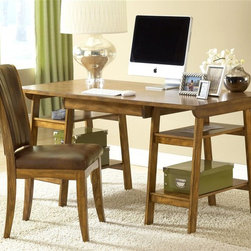 Hillsdale Furniture - Parkglen Desk w Chair in Medium Oak - Set includes 1 Parkglen Desk and Grand Bay Chair. Some assembly required. Composed of solids and wood composites. Medium Oak color. Desk: 60 in. W x 30 in. D x 30 in. H. Grand Bay Chair: 19 in. W x 24.5 in. D x 38.5 in. HUrban lines and a simply designed silhouette make Hillsdale Furniture's Park Glen desk a cool addition to your home or office. Easy storage shelves and a rich wood grain make this desk attractive, easy on your wallet and ideal for your laptop, bills or homework.