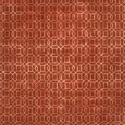 Jaipur Rugs - Transitional Gradation Pattern Red /Orange Wool/Silk Tufted Rug - BQ04, 5x8 - The Baroque collection has a simple modern aesthetic.Hand tufted in 100% wool each rug is beautifully colored to reflect todays home trends.
