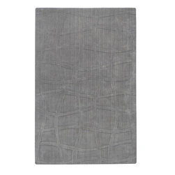 Surya Rugs - Sculpture Designer Hand Loomed 100% Wool Light Gray Rug SCU-7506 - 100% Wool. Style: Designer. Rugs Size: 5' x 8'. Note: Image may vary from actual size mentioned.