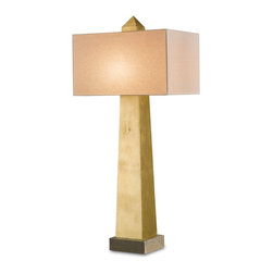 Currey and Company - Odalisque Table Lamp - Eastern influences: This magnificent, gold obelisk lamp reaches the pinnacle of simplicity and modernist sophistication, based on an ancient design. If you're looking for a stunning mini-monument to sublime good taste, this would be it.