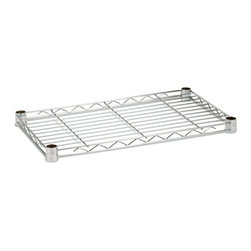 Steel Shelf- 250 Lbs Chrome 14X24 - Honey-Can-Do SHF250C1424 Plated Steel Shelf 14x24, Chrome. Create the shelving unit that suits your unique space and storage needs.  This 14x24 inch shelf is designed for use with an existing Honey-Can-Do shelving unit or can be mixed and matched to our other components and accessories to create the shelving unit of your dreams. Designed to hold 250lbs of evenly distributed weight when installed as part of a free standing unit. Pack of 4 plastic installation clips included. Urban contemporary chrome finish brings a touch of modern design to any room in the home or garage.