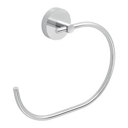 Gedy - C' Style Hand Towel Ring - C' shaped towel ring for the bathroom Eros collection by Gedy in Italy. Towel ring is made of cromall and polished stainless steel. Ring mounts to the wall with screws, which are included. Chrome Towel Ring. Made by Gedy. Part of the Eros collection.
