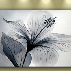 Matthew's Art Gallery - Oil Painting Modern Art on Canvas White Flower Nirvana - The Painting: