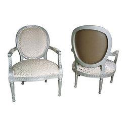 Louis XVI Bergere Armchairs - A Pair - $4,000 Est. Retail - $2,695 on Chairish.c -