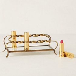 Anthropologie - Tiered Vestige Cosmetics Holder - You'll never lose sight of any of your favorite lipstick shades with this tiered holder. At just $38, this countertop necessity is just too good to pass up.