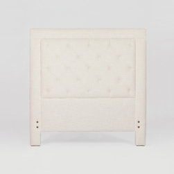 Darcy Headboard Twin by Gabby - The Darcy headboard will be the perfect fit in any bedroom with it's tufted inset panel. This stately style is available in Queen, King and Twin sizes. Not available in leather. Headboard supports 10 in. bed frame only.