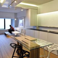 Contemporary Dining Room by Vladimir Radutny Architects